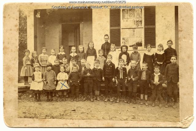 Warren St. School, Hallowell, ca. 1890