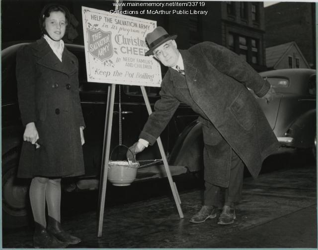 Mayor Louis Lausier of Biddeford, 1941