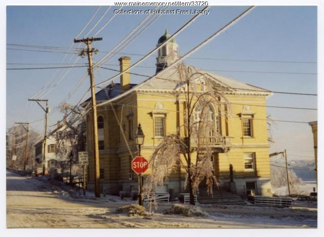 Ice Storm, Hallowell City Hall, Hallowell, 1998