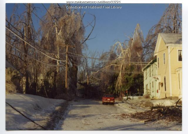 Academy Street ice damage, Hallowell, 1998