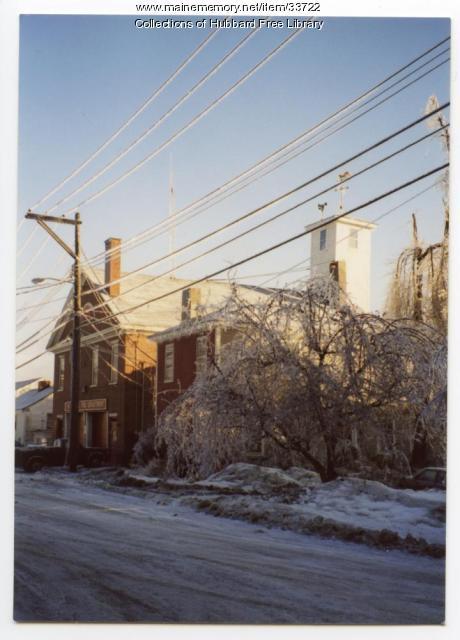 Ice Storm, Second Street, Hallowell, 1998