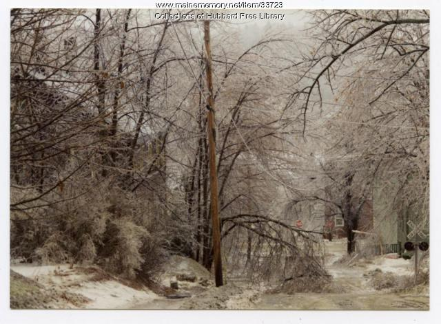 Ice Storm, Academy Street, Hallowell, 1998