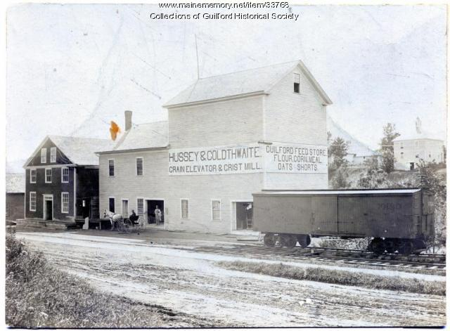 Hussey & Goldthwaite Grist Mill, Guilford, ca. 1900