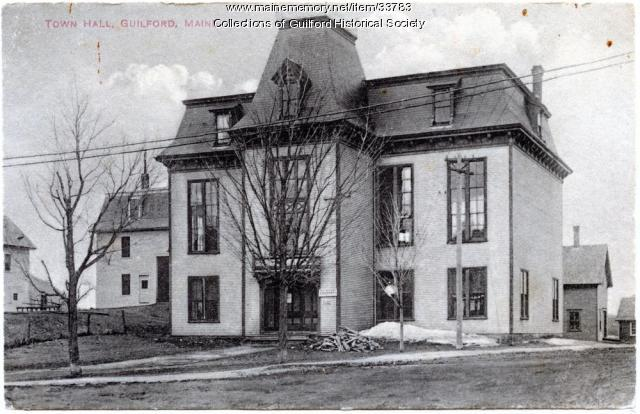 Guilford Town Hall, ca. 1880