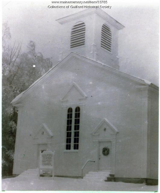 Guilford Center Baptist Church, Guilford, ca. 1900