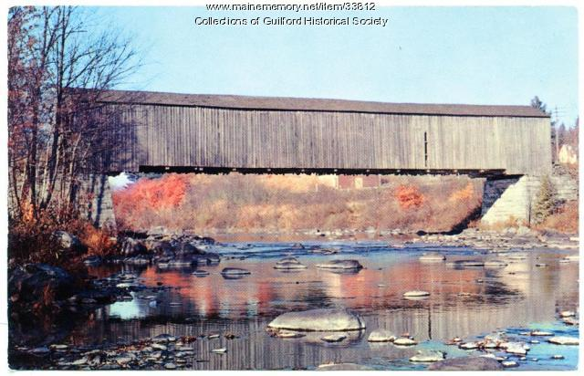 Piscataquis River & Low's Bridge, Guilford, ca. 1950