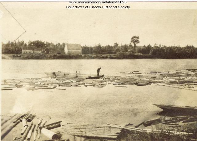 Lincoln log ferry, ca. 1930