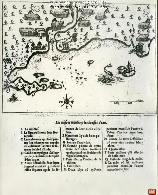 Champlain's map of Saco Bay and the Saco River, 1605