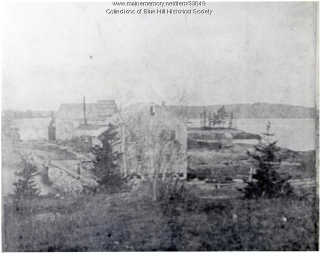 Tide mill, Blue Hill, ca. 1880