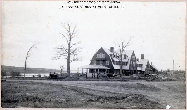 Blue Hill Inn construction, Blue Hill, 1892