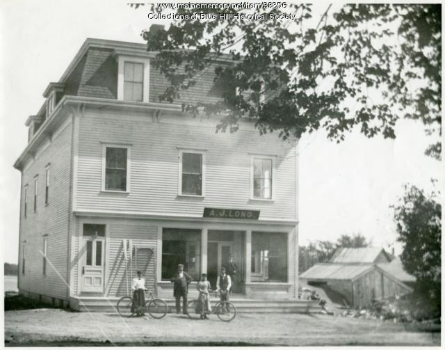Odd Fellows Building, Blue Hill, ca. 1900
