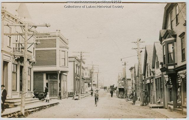 Water Street at School Street, Lubec, ca. 1905