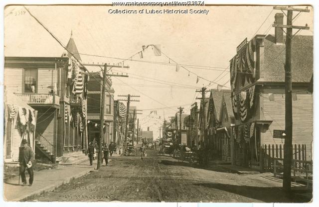 Water Street during Centennial, Lubec, 1911