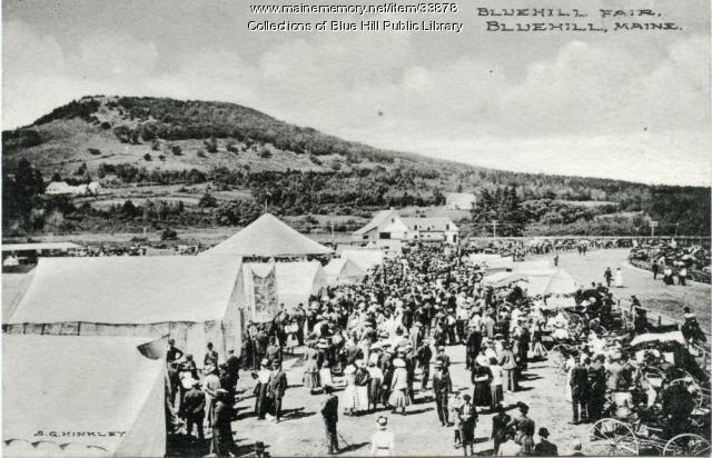 Postcard of BlueHill Fair, ca. 1910
