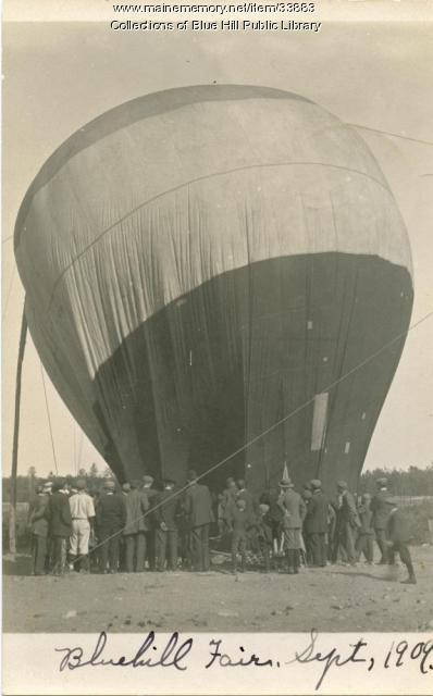 Hot Air Balloon launching at the Blue Hill Fair, ca. 1909