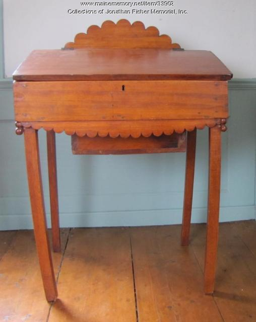 Children's Desk with secret drawer, Blue Hill, ca. 1800