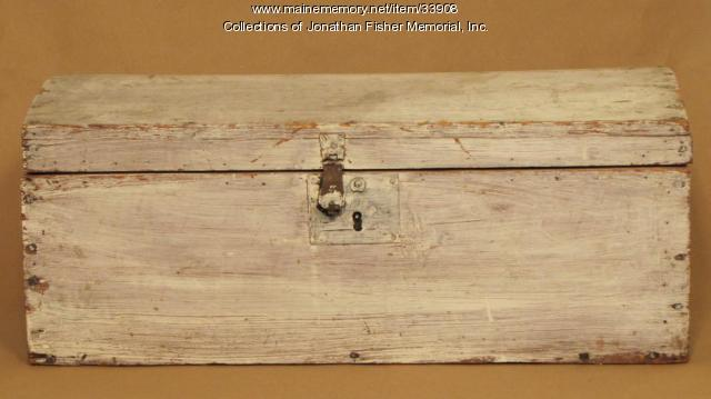 Wooden Box, Blue Hill, ca. 1800