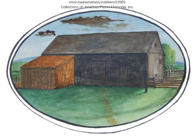 Barn Watercolor, Blue Hill, ca. 1826