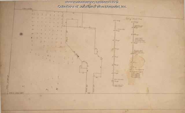 Orchard Plan, Blue Hill, ca. 1800