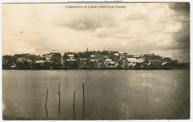 View from Campobello at High Tide, Lubec, ca. 1902