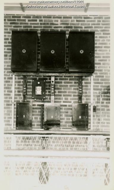Switch panel, Lubec, ca. 1950