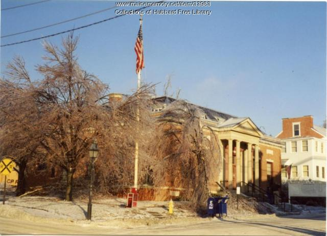 Ice Storm, Hallowell Post Office, 1998