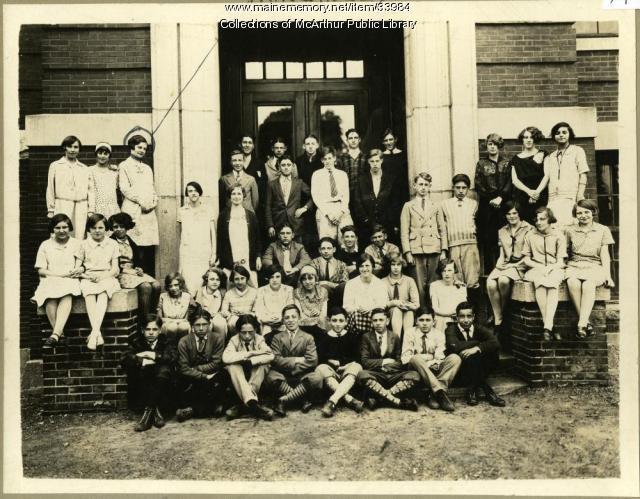 Emery Grammar School, Biddeford, Class of 1928