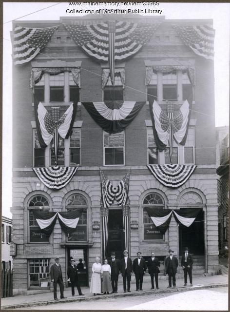 Decorated Journal Building, Biddeford, 1916