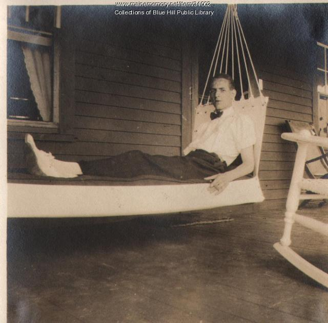 Rusticator relaxing, Blue Hill, 1907