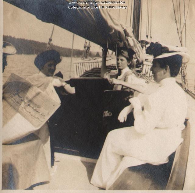 Rusticators sailing, Blue Hill, 1907