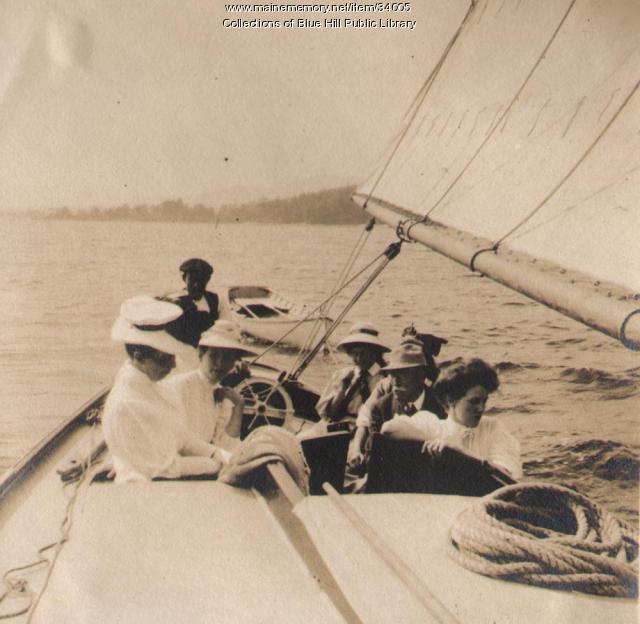 Summer sailing, Blue Hill, 1907
