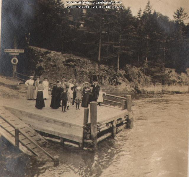 Parker Point Landing, Blue Hill, 1907