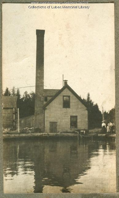 Water pump house, Lubec, ca. 1905