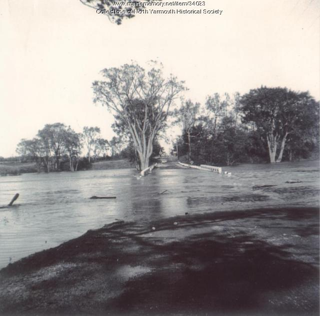 Flooding of the Royal River after Hurricane Edna, 1954