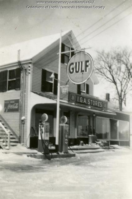 Walnut Hill IGA Store, North Yarmouth, 1946