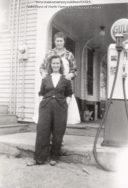 Gladys Thurber and Lena Darling, North Yarmouth, 1946