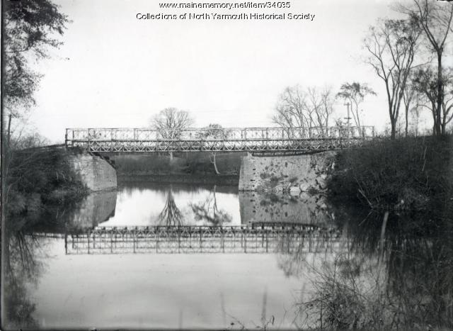 Temporary Bridge over the Royal River, North Yarmouth, 1955