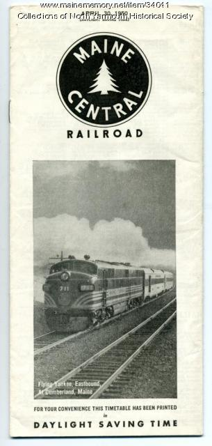 Maine Central Railroad brochure, Cumberland, 1950