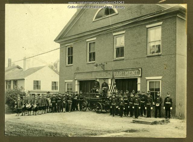 Fire Station, Second Street, Hallowell, May 30, 1918