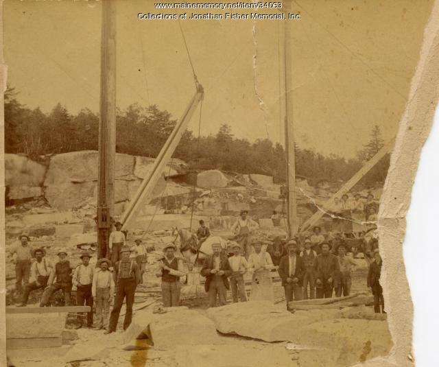 Brown & McAllister Granite Quarry, Blue Hill Bay, ca. 1890