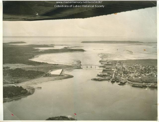 Aerial view, Lubec, 1962