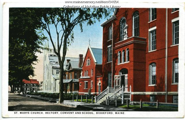 St. Mary's Church buildings, Biddeford, circa 1926