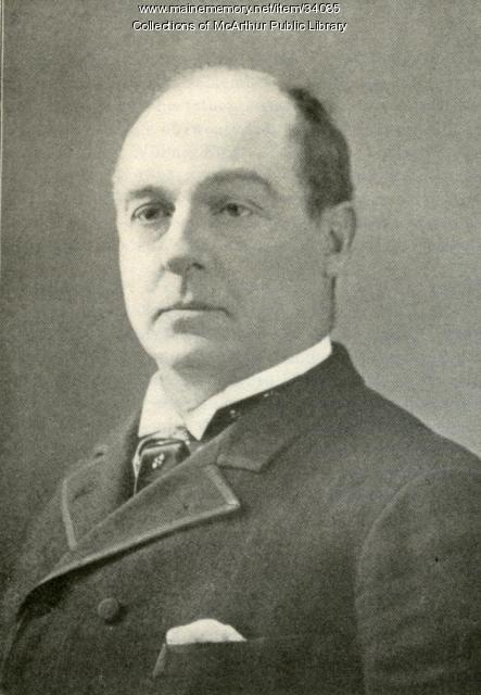 Charles A. Shaw, former Biddeford Mayor, circa 1885