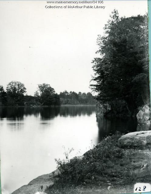 Saco River narrows, from the Biddeford side, 1911