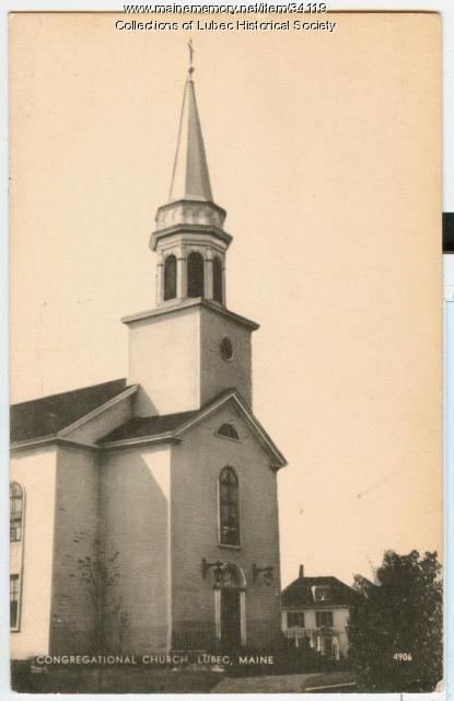 Congregational Church, Lubec, ca. 1950