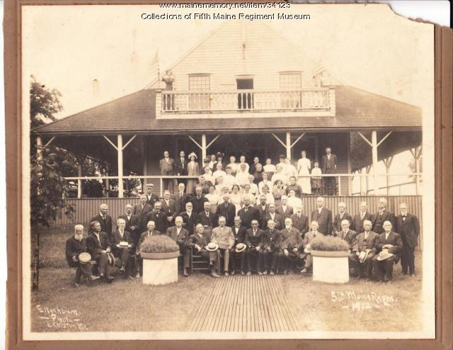 Fifth Maine Regiment Veteran Reunion, Peaks Island, 1912