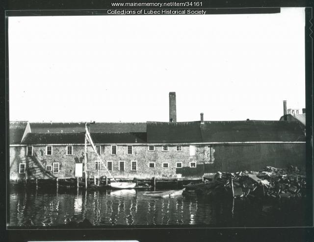 Peacock Canning Co. shop, Lubec, ca. 1975