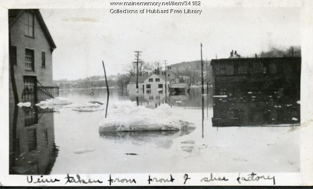 Flood, Jppa viewed from Academy Street, Hallowell, 1936