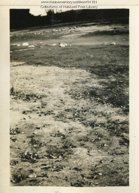 Cascade Pond drained, Hallowell, ca. 1931