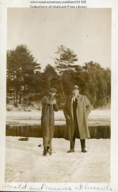 Cascade Pond, Ice cutting, Hallowell, ca. 1932